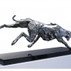 LEVRIER DE COMPETITION Competitive greyhound Gold medal Salon National des Artistes animaliers 2012 Palme d'Or 2012 – Cannes Car race allegory, Bronze H 55 x 144 x 31 cm