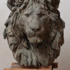 Grand buste de lion, 80x66x55, bronze
